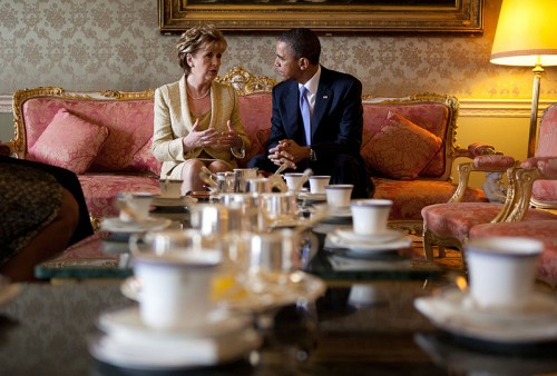Mary McAleese With U.S. President, Barack Obama