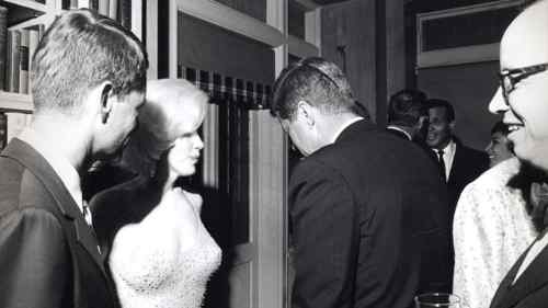 Robert Kennedy, Marilyn Monroe In Blonde Bombshell Mode And John F. Kennedy