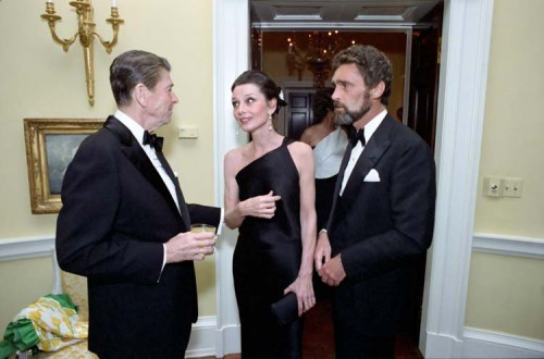 Ronald Reagan, Audrey Hepburn And Robert Wolders