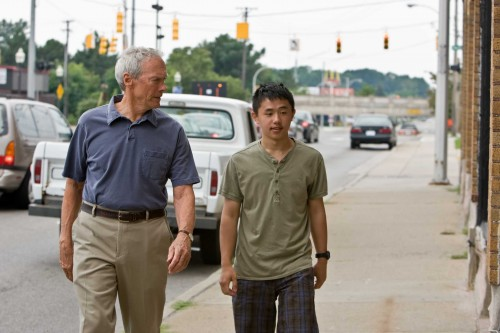 Gran Torino Film Review Walt Kowalski (Clint Eastwood) And Thao (Bee Vang). Warner Bros. Pictures