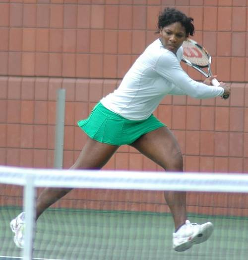 Serena Williams Training Photo By Christian Mesiano Creative Commons ShareAlike Licence