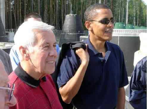 Richard Lugar And Barack Obama in 2005