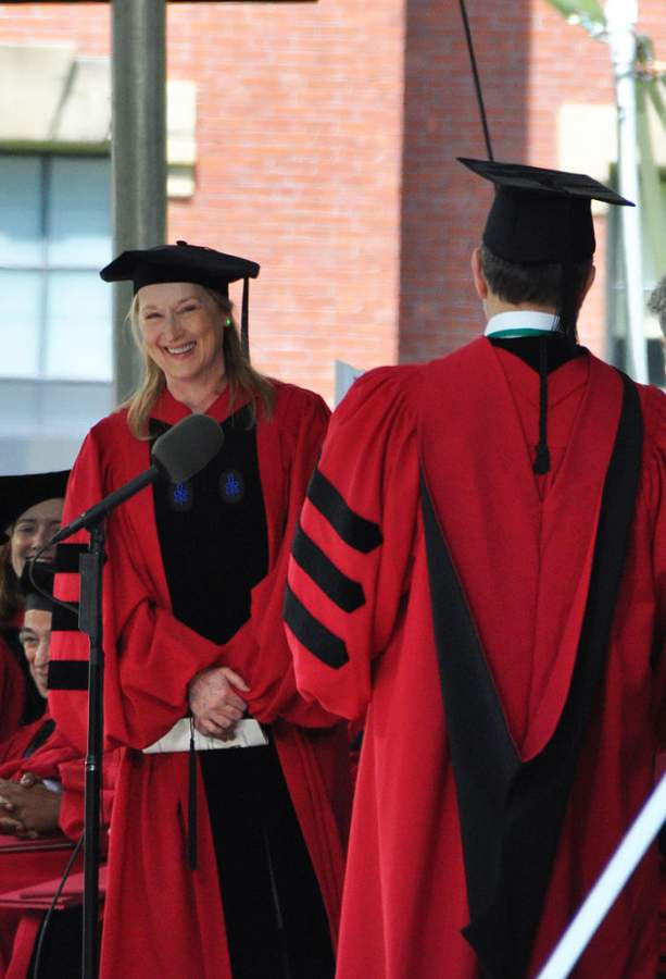 Meryl Streep Receiving An Honory Degree From Harvard Photo By chensiyuan Creative Commons ShareAlike Licence