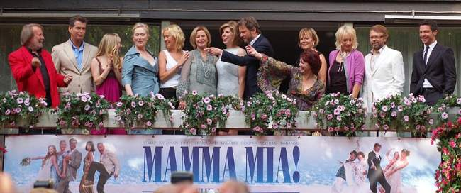 Meryl Streep With The Cast Of Mamma Mia And ABBA Photo By Daniel Åhs Karlsson