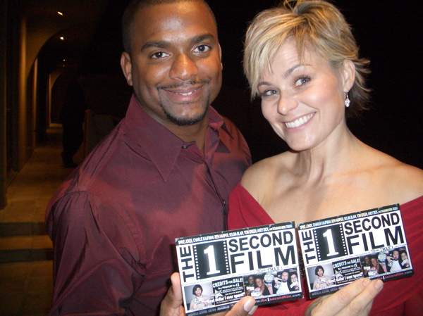 Alfonso Ribeiro With Former Wife Robin Stapler Photo By The 1 Second Film Creative Commons ShareAlike Licence