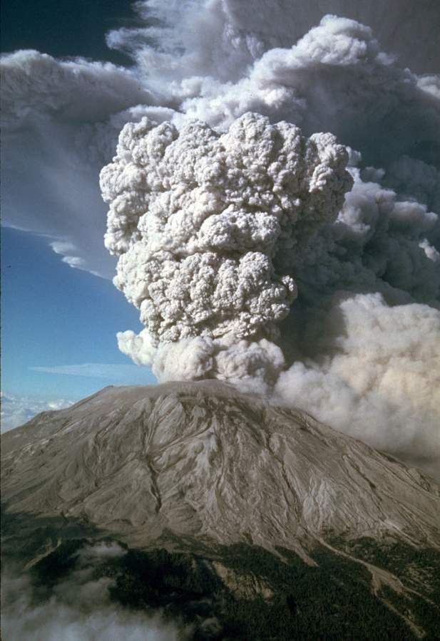 Mount Saint Helens Eruption Photo By Mike Doukas