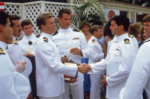 Top Gun Film Review Iceman (Val Kilmer) And Maverick (Tom Cruise)