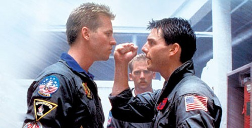 Top Gun Film Review Iceman (Val Kilmer) And Maverick (Tom Cruise) Renew Their Rivalry