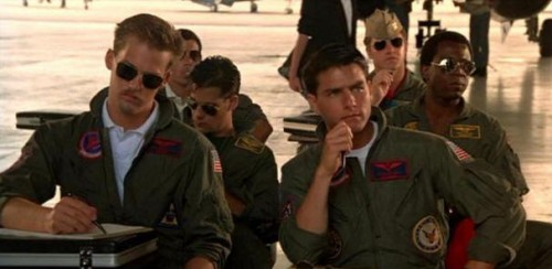 Top Gun Film Review Goose (Anthony Edwards) And Maverick (Tom Cruise)