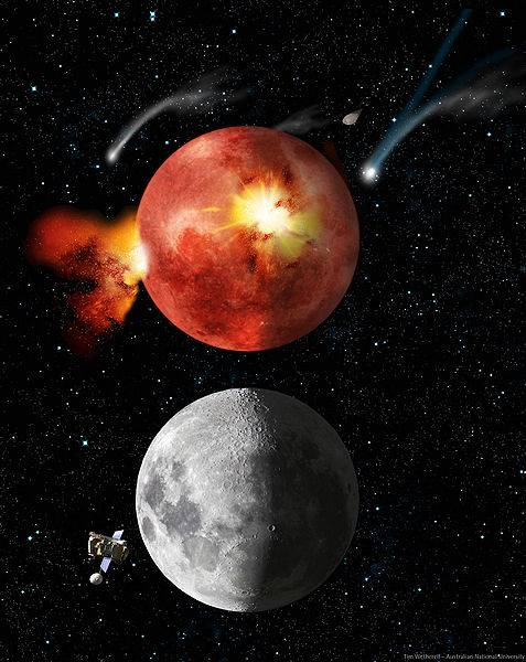 The Inner Planets Lunar Cataclysm During The Late Heavy Bombardment Photo By Tim Wetherell - Australian National University
