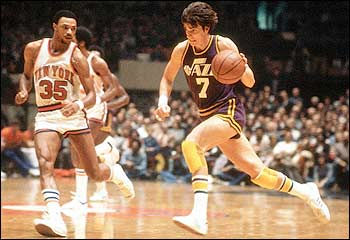 Pistol Pete Maravich Playing For The New Orleans Jazz
