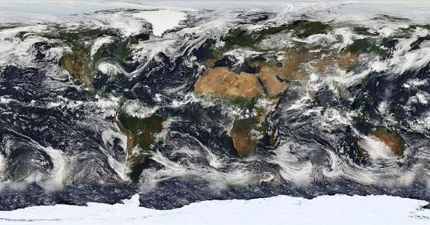 Planet Earth MODIS Map Showing Earth's Weather NASA