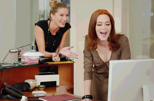 The Devil Wears Prada Film Review Serena (Gisele Bundchen)And Emily (Emily Blunt)