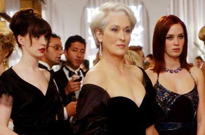The Devil Wears Prada Film Review Miranda Priestly (Meryl Streep), Andy Sachs (Anne Hathaway) And Emily (Emily Blunt)
