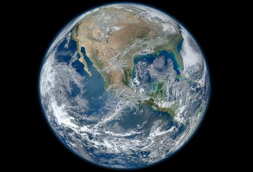 True Colour Picture Of Planet Earth