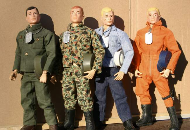 1960's Toys Original GI Joe Lineup (Fair Usage)