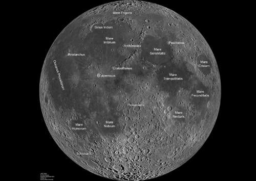 Map Of The Nearside Of The Moon