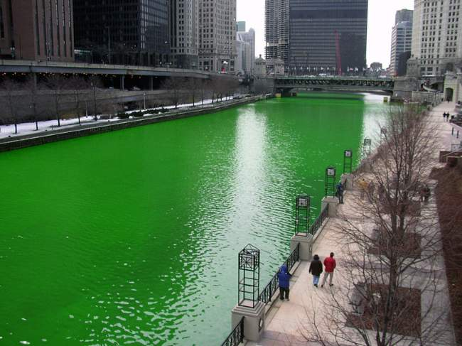 Saint Patrick's Day Chicago River Dyed Greed Photo By Knowledge Seeker