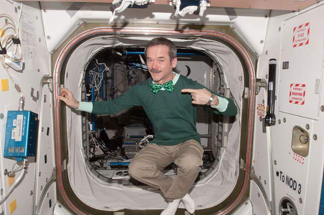 Saint Patrick's Day In The ISS Astronaut Chris Hadfield Photo By NASA