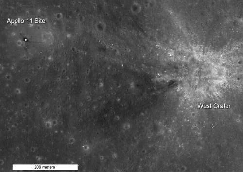 The Apollo 11 Landing Site On The Moon