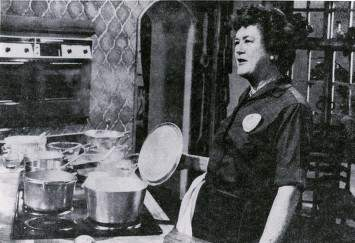 Julia Child Giving A Cooking Demonstration