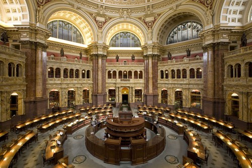 U.S. Library Of Congress Reading Room Photo By Carol McKinney Highsmith