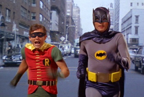 Batman 60's TV Series - Robin (Burt Ward) and Batman (Adam West)