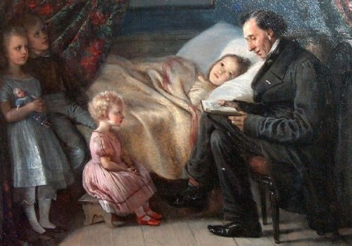 Hans Christian Andersen Reading The Angel