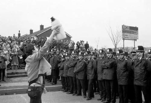 Miner's Strike In Yorkshire, England