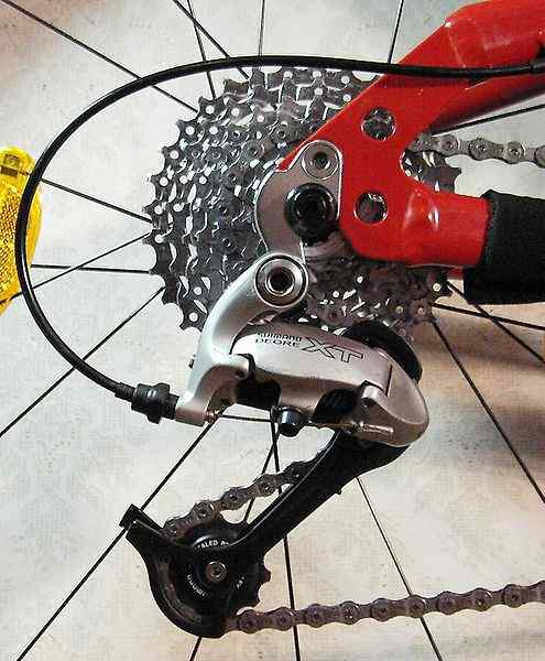 Rear Bicycle Cogs And Derailleur