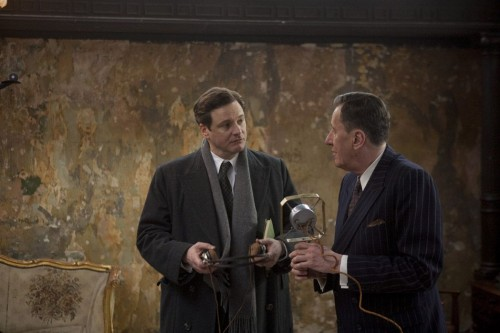 The Kings Speech King George VI Colin Firth and Lionel Logue Geoffrey Rush