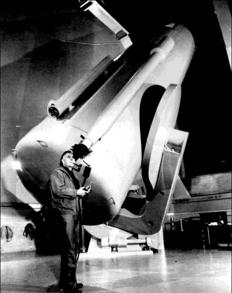 Edwin Hubble With The 48 Inch Schmidt Telescope