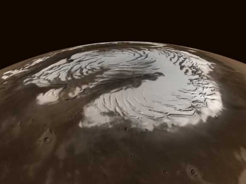 Planet Mars's Icy North Pole