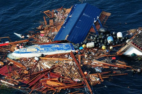 Debris Caused By The Japanese Tsunami Of 2011