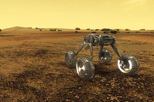 An Artistic Impression Of A Future Stirling Cooled Rover On The Surface Of Planet Venus