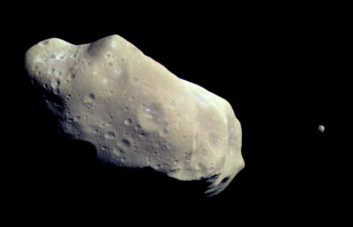 The Asteroid Belt's Ida And Dactyl