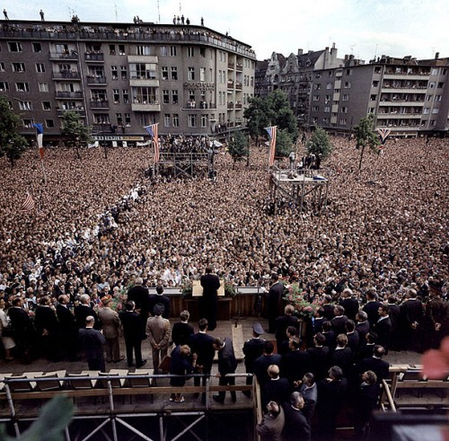 John F. Kennedy Addressing West Berliners 'Ich bin ein berliner'