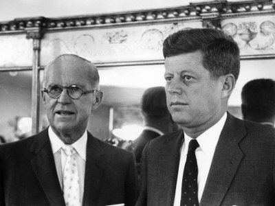 Joseph 'Joe' P. Kennedy and John F. Kennedy