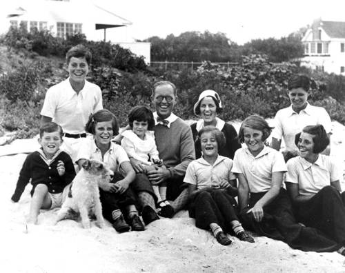 The Kennedy Family L-R: Robert Kennedy, John F. Kennedy, Eunice Kennedy, Jean Kennedy (on lap of) Joseph P. Kennedy Sr., Rose Fitzgerald Kennedy,  Patricia Kennedy, Kathleen Kennedy, Joseph P. Kennedy Jr.,  Rosemary Kennedy Photo By Richard Sears