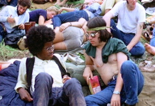 Hippies In Attendence At Woodstock