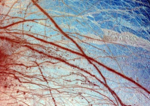 Close Up Of Jupiter's Moon Europa In False Colour