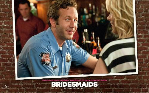 Officer Nathan Rhodes (Chris O'Dowd) And Annie (Kristen Wiig) In Bridesmaids