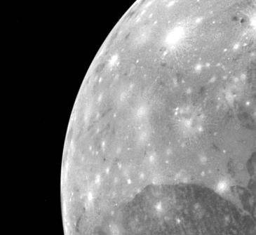 Jupiter's Moon Ganymede's Bright Sections