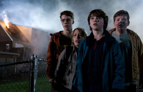Martin (Gabriel Basso), Cary (Ryan Lee), Joe Lamb (Joel Courtney) And Charles (Riley Griffiths) In Super 8