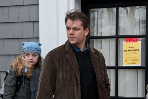 Jory Emhoff (Anna Jacoby-Heron) And Mitch Emhoff (Matt Damon) In Contagion (Warner Bros)
