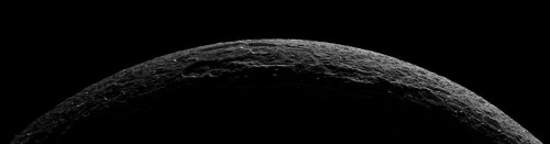 Saturn's moon Dione Taken By Cassini