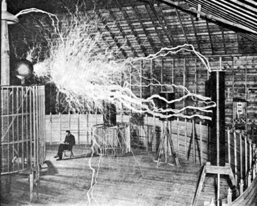Genius Inventor Nikola Tesla At Colorado Springs Photo By Dickenson V. Alley
