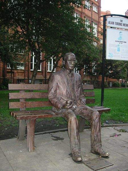 Alan Turing Quotes Memorial Statue In Sackville Park, Manchester, England