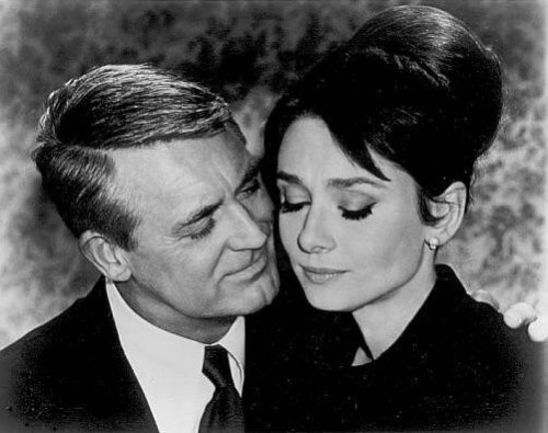 Audrey Hepburn With Cary Grant