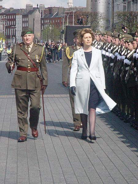 Mary McAleese Inspects The Guard Of Honour Photo By Andrew O'Brien